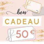 BON CADEAU 50 EUROS par . Scrapbooking et loisirs créatifs. Livraison rapide et cadeau dans chaque commande.