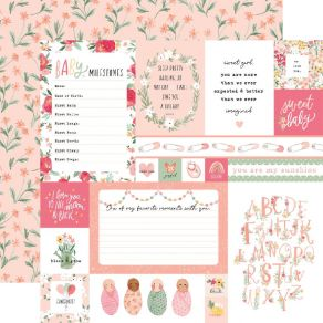 Papier imprimé Welcome Baby Girl MULTI JOURNALING CARDS par Echo Park. Scrapbooking et loisirs créatifs. Livraison rapide et ...