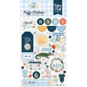 Stickers puffy WELCOME BABY BOY par Echo Park. Scrapbooking et loisirs créatifs. Livraison rapide et cadeau dans chaque comma...