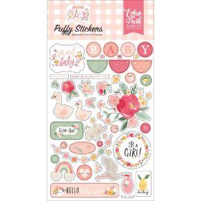 Stickers puffy WELCOME BABY GIRL par Echo Park. Scrapbooking et loisirs créatifs. Livraison rapide et cadeau dans chaque comm...
