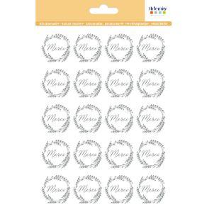 20 stickers décalcomanies MERCI ARGENT par Artemio. Scrapbooking et loisirs créatifs. Livraison rapide et cadeau dans chaque ...