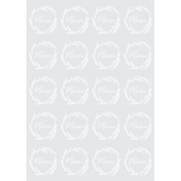 20 stickers décalcomanies MERCI BLANC par Artemio. Scrapbooking et loisirs créatifs. Livraison rapide et cadeau dans chaque c...