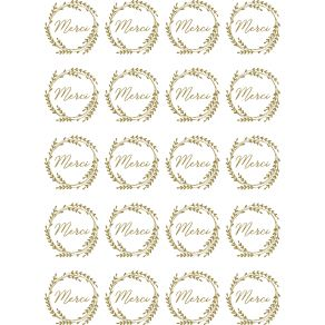20 stickers décalcomanies MERCI OR par Artemio. Scrapbooking et loisirs créatifs. Livraison rapide et cadeau dans chaque comm...