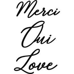 Outils de découpe MERCI OUI LOVE par Artemio. Scrapbooking et loisirs créatifs. Livraison rapide et cadeau dans chaque commande.