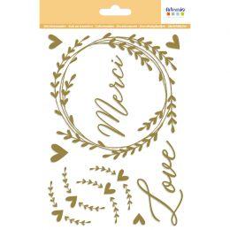 Stickers décalcomanies MERCI OR par Artemio. Scrapbooking et loisirs créatifs. Livraison rapide et cadeau dans chaque commande.