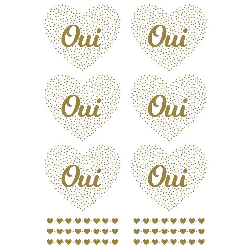 Stickers décalcomanies OUI GOLD FOIL par Artemio. Scrapbooking et loisirs créatifs. Livraison rapide et cadeau dans chaque co...