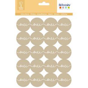 Stickers KRAFT OUI 2 par Artemio. Scrapbooking et loisirs créatifs. Livraison rapide et cadeau dans chaque commande.
