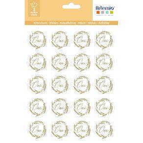 Stickers OUI OR par Artemio. Scrapbooking et loisirs créatifs. Livraison rapide et cadeau dans chaque commande.