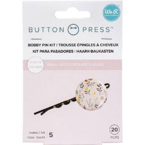 5 accessoires épingles à cheveux pour BUTTON PRESS BOBBY PIN BACKERS par We R Memory Keepers. Scrapbooking et loisirs créatif...