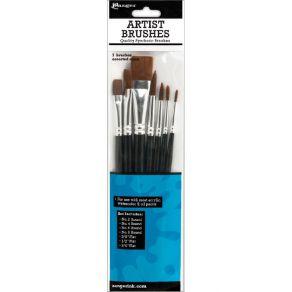 7 pinceaux ARTIST BRUSHES par Ranger. Scrapbooking et loisirs créatifs. Livraison rapide et cadeau dans chaque commande.