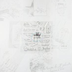 Tampon clear MERCI DU FOND DU CŒUR par Comptoir du Scrap. Scrapbooking et loisirs créatifs. Livraison rapide et cadeau dans c...