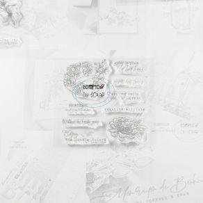 Tampon clear PALETTE FLEURIE par Comptoir du Scrap. Scrapbooking et loisirs créatifs. Livraison rapide et cadeau dans chaque ...