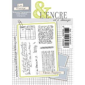 Tampons clear VIEUX PAPIERS par L'Encre et l'Image. Scrapbooking et loisirs créatifs. Livraison rapide et cadeau dans chaque ...