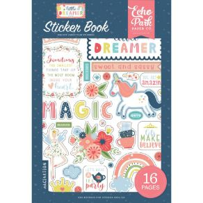 Carnet de stickers LITTLE DREAMER GIRL par Echo Park. Scrapbooking et loisirs créatifs. Livraison rapide et cadeau dans chaqu...