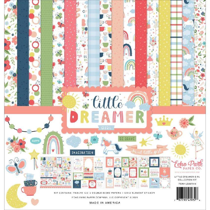 Kit collection LITTLE DREAMER GIRL par Echo Park. Scrapbooking et loisirs créatifs. Livraison rapide et cadeau dans chaque co...