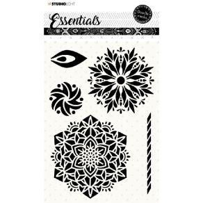 Pochoir Doodle Essentials N°58 par Studio Light. Scrapbooking et loisirs créatifs. Livraison rapide et cadeau dans chaque com...