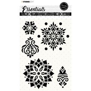 Pochoir Doodle Essentials N°59 par Studio Light. Scrapbooking et loisirs créatifs. Livraison rapide et cadeau dans chaque com...