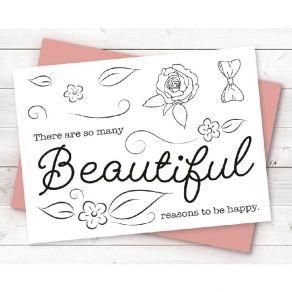 Tampons clear BEAUTIFUL par Crafter's Companion. Scrapbooking et loisirs créatifs. Livraison rapide et cadeau dans chaque com...