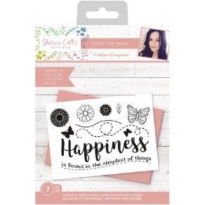 Tampons clear HAPPINESS par Crafter's Companion. Scrapbooking et loisirs créatifs. Livraison rapide et cadeau dans chaque com...