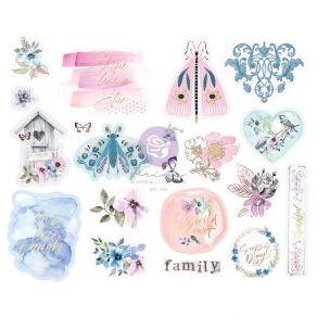 Stickers cartonnés Watercolor Floral SHAPES par Prima Marketing. Scrapbooking et loisirs créatifs. Livraison rapide et cadeau...