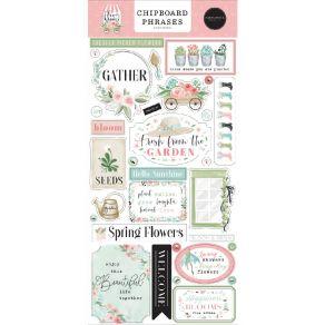 Chipboards Flower Garden PHRASES par Carta Bella. Scrapbooking et loisirs créatifs. Livraison rapide et cadeau dans chaque co...