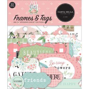 Die cuts Flower Garden FRAMES & TAGS par Carta Bella. Scrapbooking et loisirs créatifs. Livraison rapide et cadeau dans chaqu...