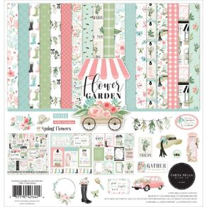 Kit collection FLOWER GARDEN par Carta Bella. Scrapbooking et loisirs créatifs. Livraison rapide et cadeau dans chaque commande.