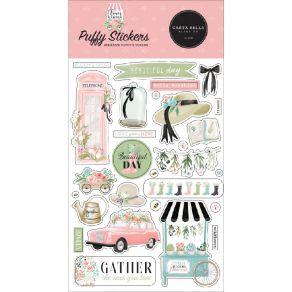 Stickers puffy FLOWER GARDEN par Carta Bella. Scrapbooking et loisirs créatifs. Livraison rapide et cadeau dans chaque commande.