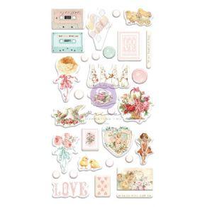 Stickers puffy MAGIC LOVE par Prima Marketing. Scrapbooking et loisirs créatifs. Livraison rapide et cadeau dans chaque comma...