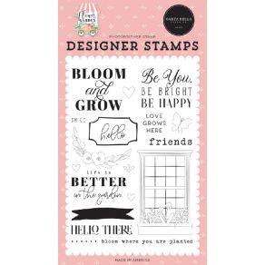 Tampons clear Flower Garden BLOOM & GROW par Carta Bella. Scrapbooking et loisirs créatifs. Livraison rapide et cadeau dans c...