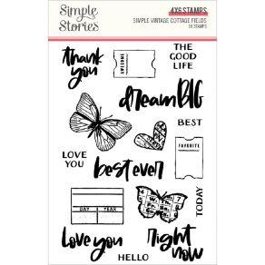 Tampons clear SIMPLE VINTAGE COTTAGE FIELDS par Simple Stories. Scrapbooking et loisirs créatifs. Livraison rapide et cadeau ...