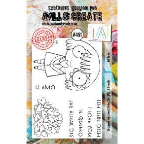 Tampons clear LIL LOVE 481 par AALL & Create. Scrapbooking et loisirs créatifs. Livraison rapide et cadeau dans chaque commande.