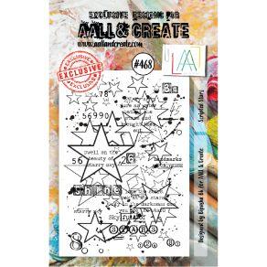 Tampons clear SCRIPTED STARS 468 par AALL & Create. Scrapbooking et loisirs créatifs. Livraison rapide et cadeau dans chaque ...