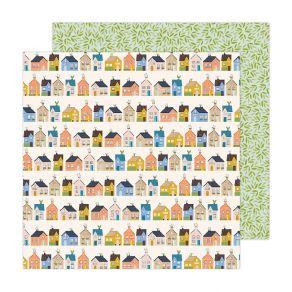 Papier imprimé Reaching Out HI NEIGHBOR par American Crafts. Scrapbooking et loisirs créatifs. Livraison rapide et cadeau dan...