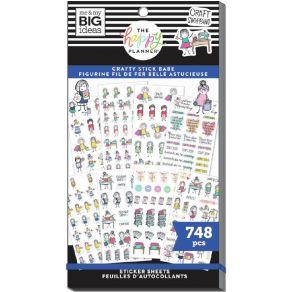 Carnet de stickers MAMBI Happy Planner STICK GIRLS CRAFT par Me & My Big Ideas. Scrapbooking et loisirs créatifs. Livraison r...