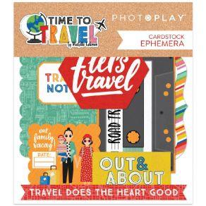 Die cuts TIME TO TRAVEL par Photo Play. Scrapbooking et loisirs créatifs. Livraison rapide et cadeau dans chaque commande.