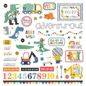 Stickers Little Boys Have Big Adventures ELEMENTS par Photo Play. Scrapbooking et loisirs créatifs. Livraison rapide et cadea...