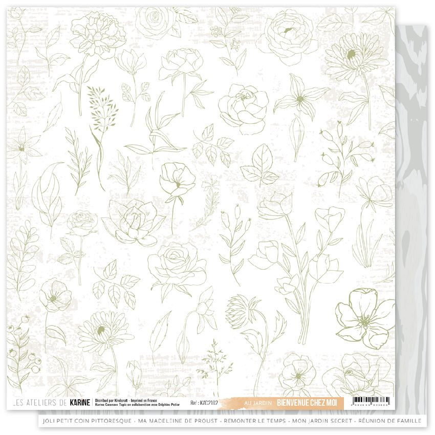 Papier imprimé BIENVENUE CHEZ MOI 2 par Les Ateliers de Karine. Scrapbooking et loisirs créatifs. Livraison rapide et cadeau ...