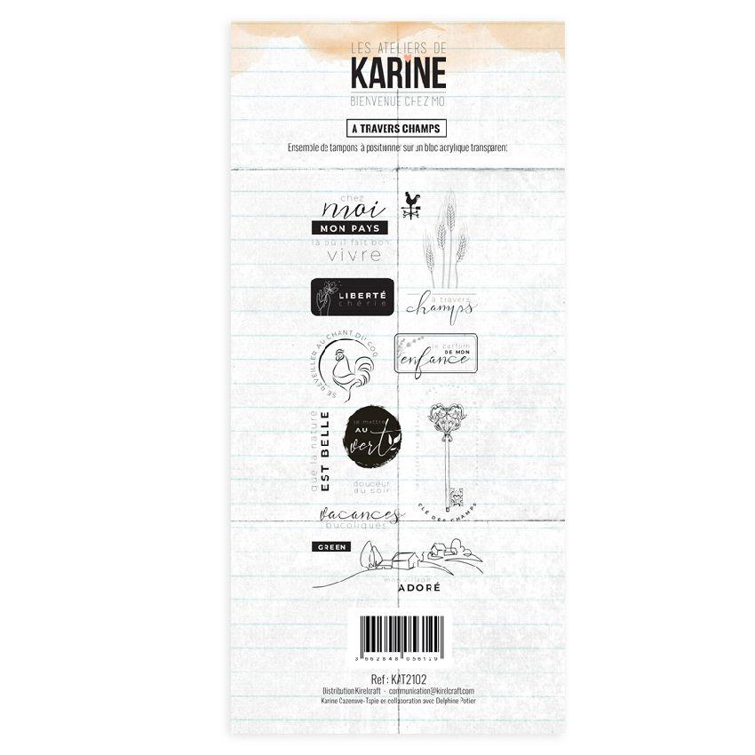 Tampon clear Bienvenue chez moi A TRAVERS CHAMPS par Les Ateliers de Karine. Scrapbooking et loisirs créatifs. Livraison rapi...