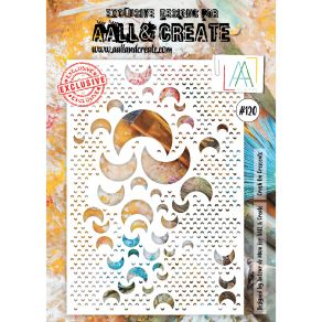 Pochoir AALL and Create CRUSH ON CRESCENTS 120