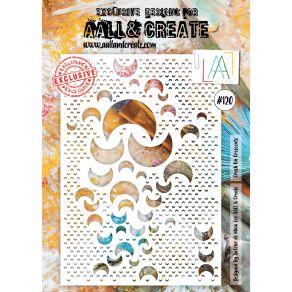 Pochoir AALL and Create CRUSH ON CRESCENTS 120 par AALL & Create. Scrapbooking et loisirs créatifs. Livraison rapide et cadea...