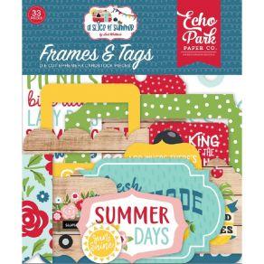 Die cuts A Slice Of Summer FRAMES & TAGS par Echo Park. Scrapbooking et loisirs créatifs. Livraison rapide et cadeau dans cha...