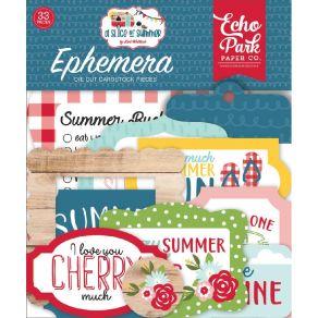 Die cuts A Slice Of Summer ICONS par Echo Park. Scrapbooking et loisirs créatifs. Livraison rapide et cadeau dans chaque comm...