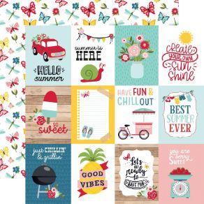Papier imprimé A Slice Of Summer 7,5 X 10 CM JOURNALING CARDS par Echo Park. Scrapbooking et loisirs créatifs. Livraison rapi...