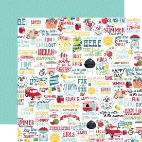 Papier imprimé A Slice Of Summer FUN IN THE SUN par Echo Park. Scrapbooking et loisirs créatifs. Livraison rapide et cadeau d...