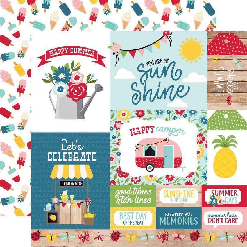 Papier imprimé A Slice Of Summer MULTI JOURNALING CARDS par Echo Park. Scrapbooking et loisirs créatifs. Livraison rapide et ...
