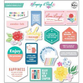 Stickers cartonnés KEEPING IT REAL par Pinkfresh Studio. Scrapbooking et loisirs créatifs. Livraison rapide et cadeau dans ch...
