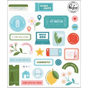 Stickers cartonnés SOME DAYS par Pinkfresh Studio. Scrapbooking et loisirs créatifs. Livraison rapide et cadeau dans chaque c...