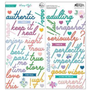 Stickers puffy Keeping It Real PHRASE par Pinkfresh Studio. Scrapbooking et loisirs créatifs. Livraison rapide et cadeau dans...