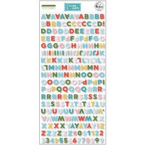 Stickers puffy Mini Alpha SOME DAYS par Pinkfresh Studio. Scrapbooking et loisirs créatifs. Livraison rapide et cadeau dans c...